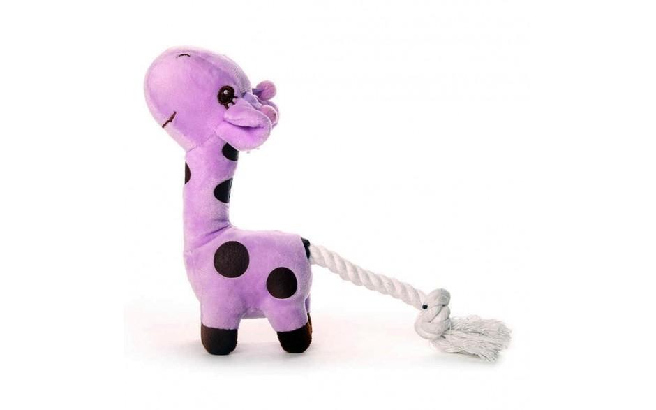 Pliušinis žaislas su virve - Žirafa